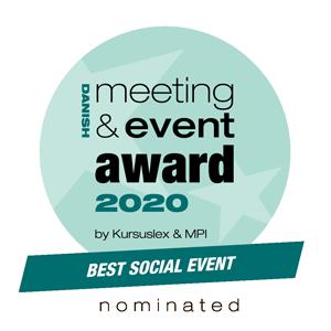 Nomineret til bedste sociale event eventbureau københavn
